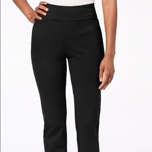 Slimming Pull On Sueded Pants Tummy Control